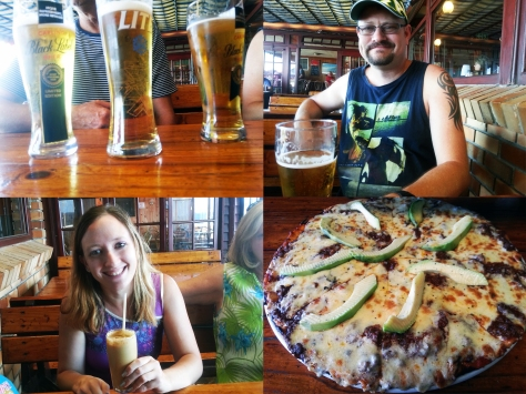 Pizza and beer at Dixies
