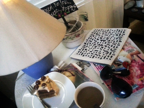 Cake and coffee and crossword puzzles