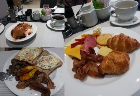 Breakfast buffet at the Islands at President Hotel
