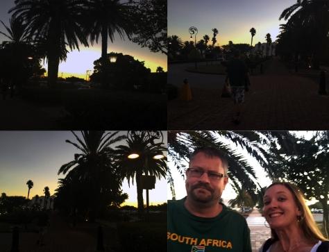 Sunset at GrandWest Casino.