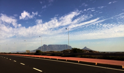 View of Table Mountain from Table View.