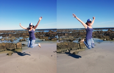 Beach jump at Melkbos