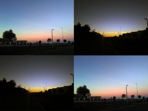 Sunset in the suburbs