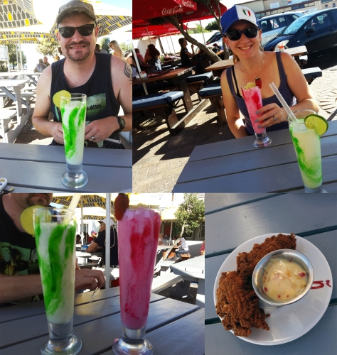 Cocktails and chilli poppers at Woodbridge Island's Beach Tavern