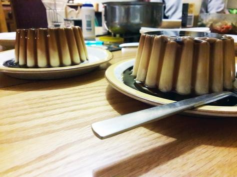 Creme caramel dessert.