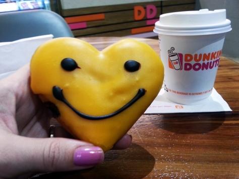 Mr Happy doughnut at Dunkin' Donuts Canal Walk