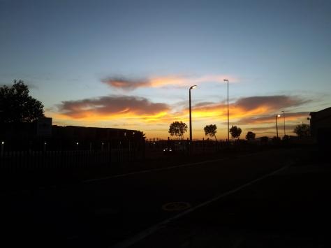 Sun rise in Cape Town