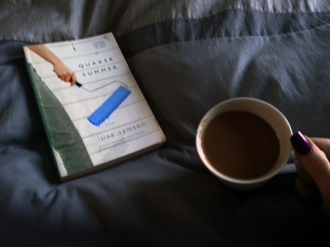 Bed book and coffee