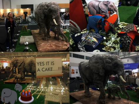 Elephant cakes at GFWS.