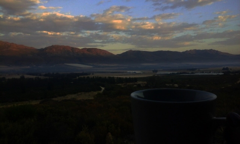Coffee at sunrise in Citrusdal