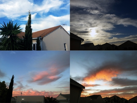 Winter sky in Cape Town