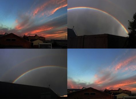 Rainbow after Cape storm.