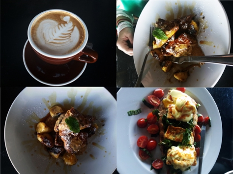 French toast and cappuccino at Primi