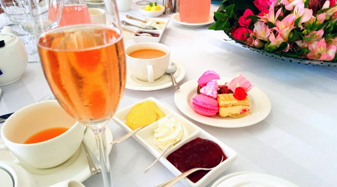 Pink high tea at the 12 Apostles and Sunday evening Giggle Juice