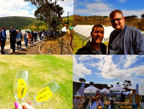 Oyster and champagne festival at Hillcrest Quarry