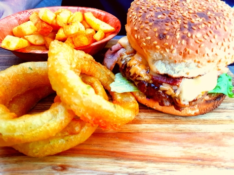 Cheese bomb burger at Bossa