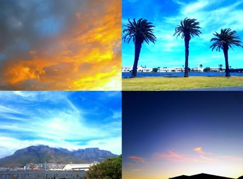 Cape Town sky.