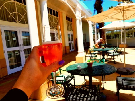 Pink bubbly at Table Bay Hotel