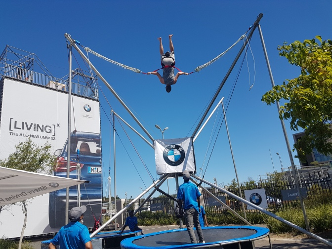 Second Christmas lunch of 2017 at Grande Kloof Boutique Hotel, Husband goes bungy trampolining
