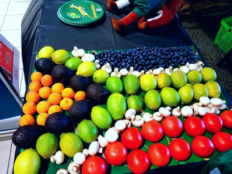 South African flag vegetables