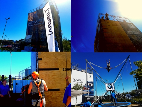 BMW activities abseil and bungee trampoline