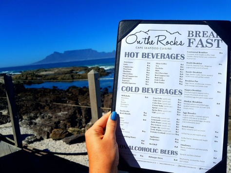 On the Rocks breakfast menu
