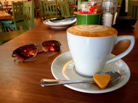 Shortbread biscuit and cappuccino at Village Place Cafe