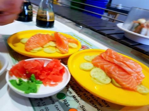 Salmon sashimi at The Orient