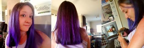 Purple hair gentian violet