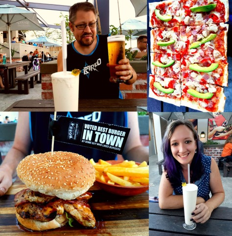 Burgers and pizzas at Bossa