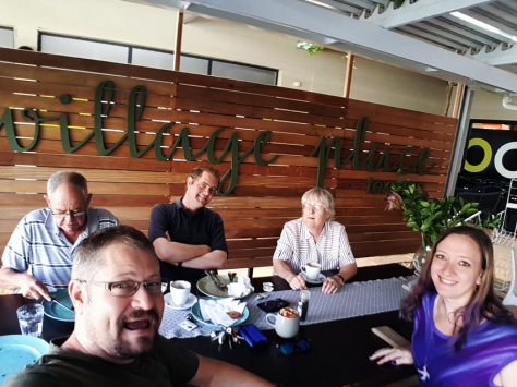 Family breakfast at Village Place Cafe