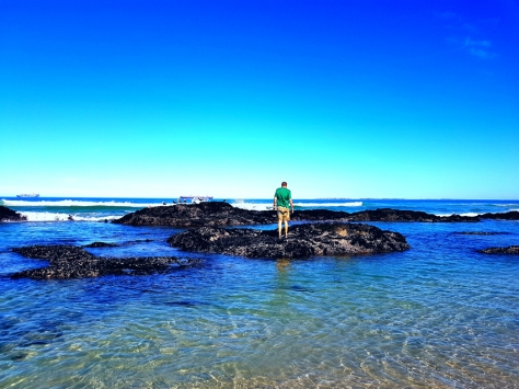 Rocks and tides in Cape Town