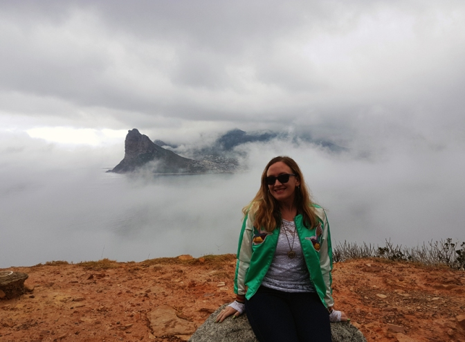 Cloudy Cape Town skies and misty Chapman's Peak