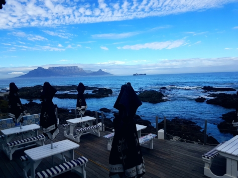 Table Mountain and clouds from On the Rocks