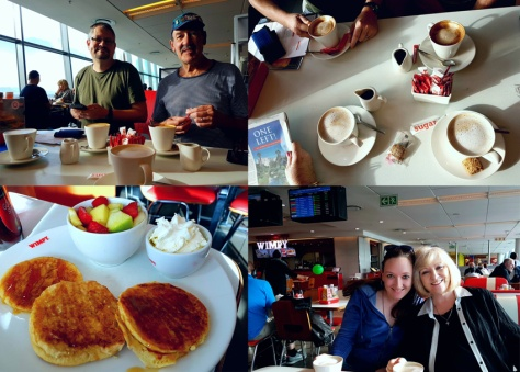 Flapjacks at airport Wimpy