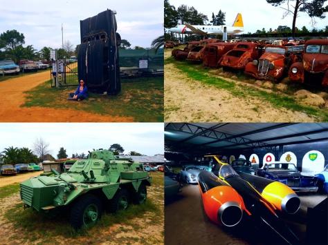 Car museum tank