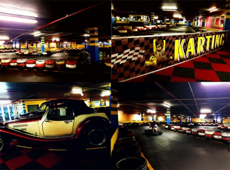 Go-karting at Century Karting.