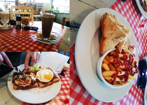 Breakfast at Builder's Warehouse Cafe Lacomia