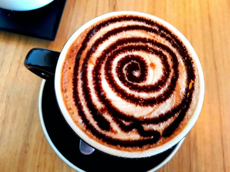Peppermint choc latte at Reload, Sunningdale