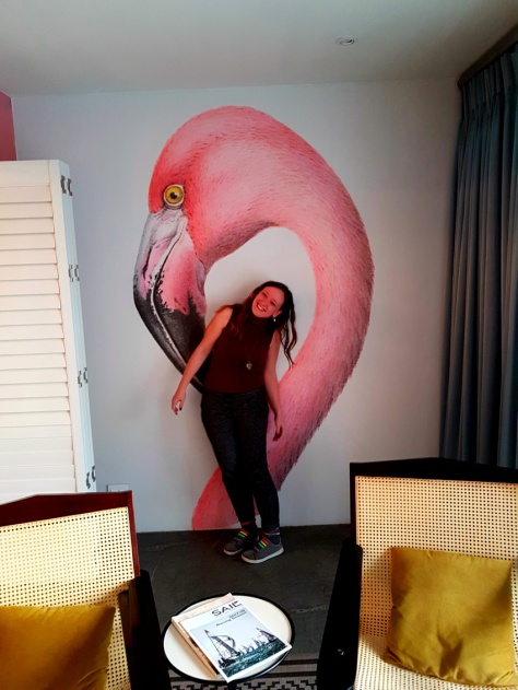 Flamingo room at Majeka House