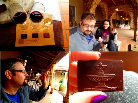 Chocolate wine pairing at Waterford Estate