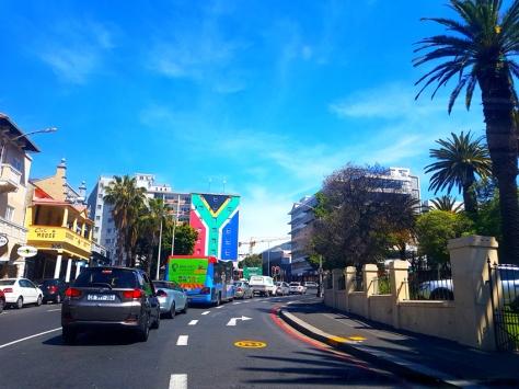SA flag on Long Street