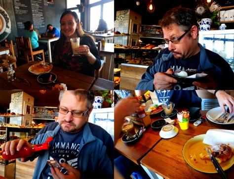 Canoli and breakfast at Trecastelli