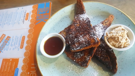 Coffee French toast at Pulp Kitchen