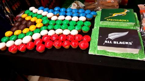 SA flag cupcakes
