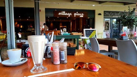 Coffee and shake at Village Place