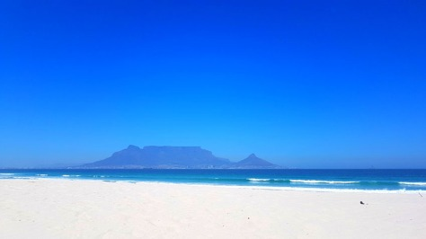 Table Mountain from Dolphin Beach