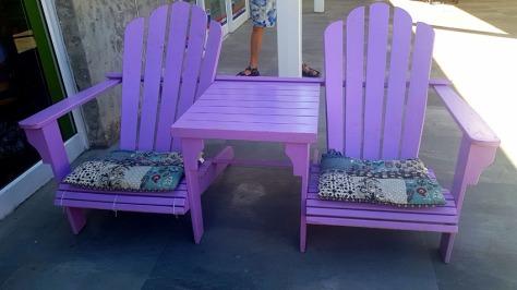 Double lilac Adirondack