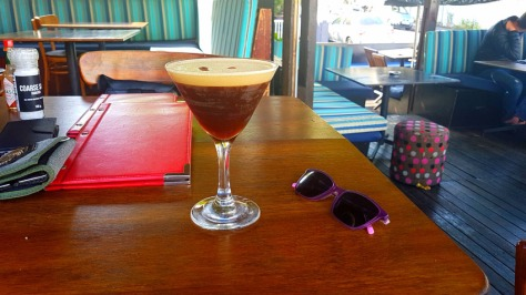 Espresso martini at Van Hunks