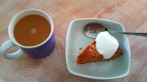 Apple cake and coffee